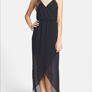 Lush Tulip Hem Maxi Dress Black Small